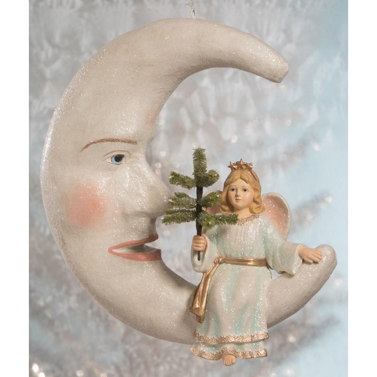 Peaceful Angel on Moon Large