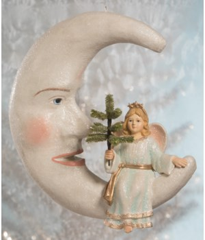 Peaceful Angel on Moon Large