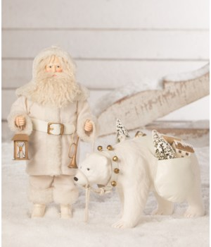 Winter Santa With Polar Bear
