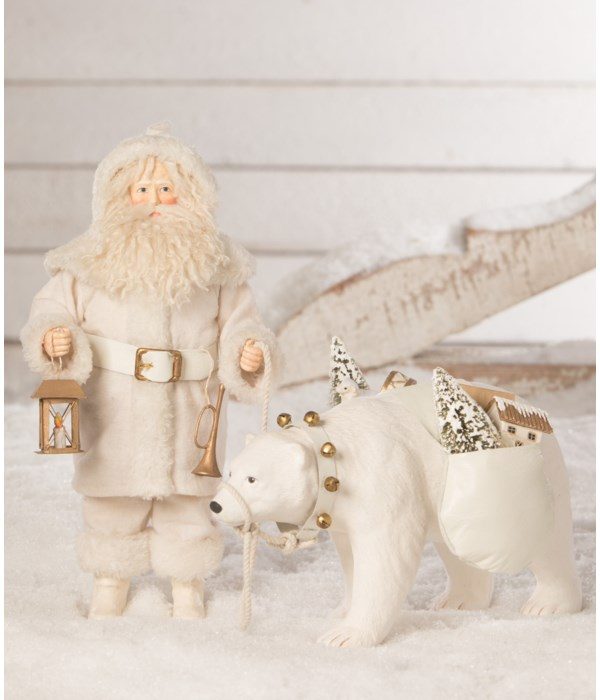 Winter Santa With Polar Bear