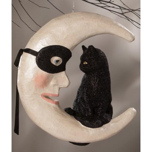Hallow's Eve Cat On Moon