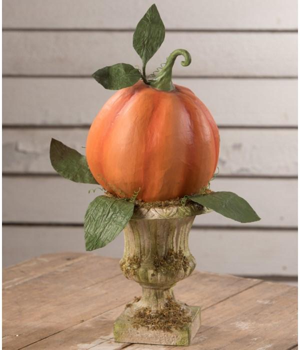 Fall Pumpkin in Urn