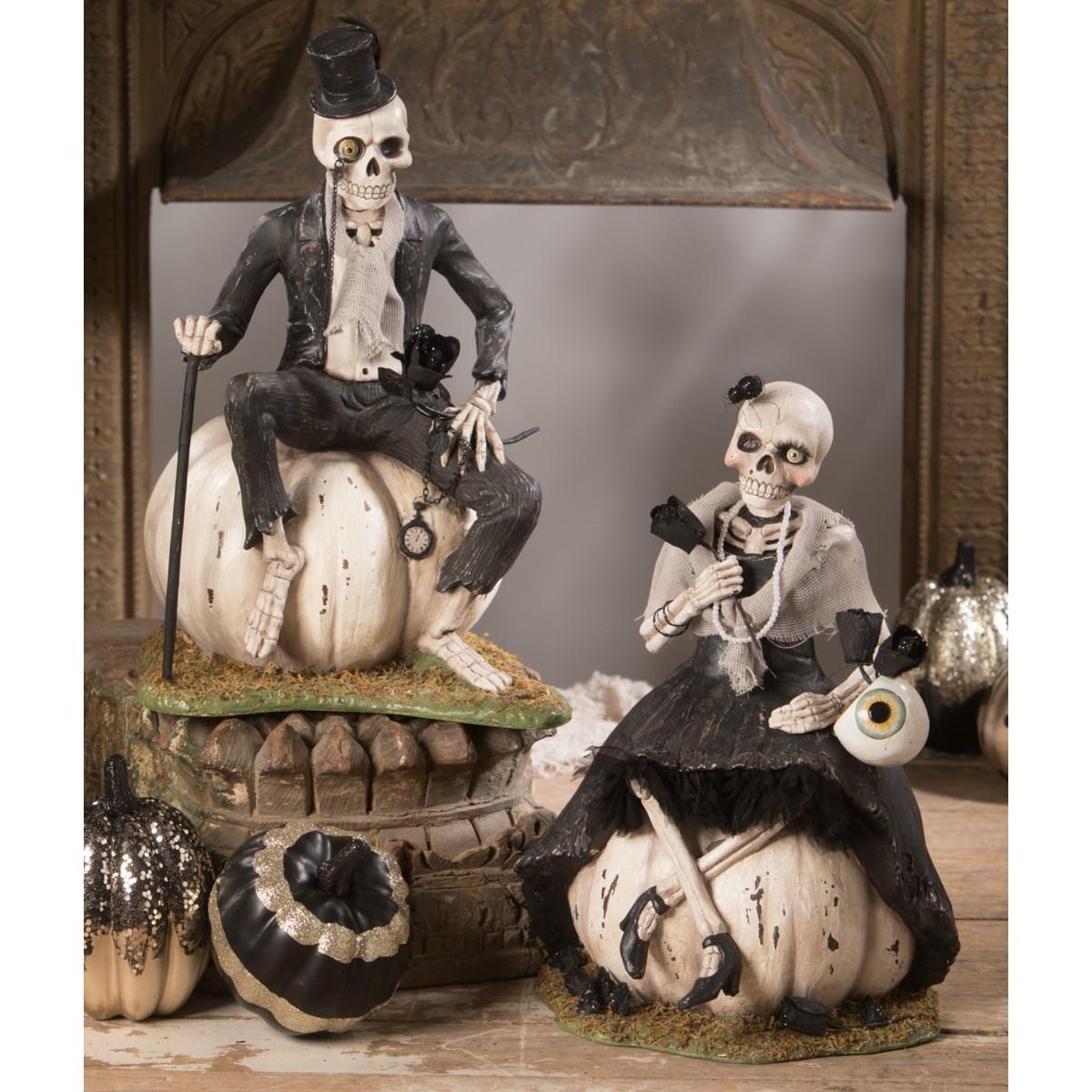 Mr. Skeleton On Pumpkin