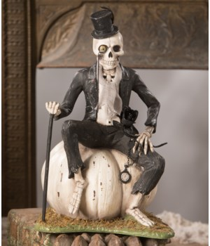 Mr. Skeleton On Pumpkin