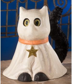 Casper Ghost Cat Large Paper Mache