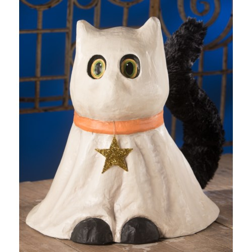 Casper Ghost Cat Large Paper Mache