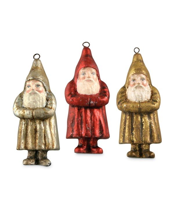 Mini Metallic Belsnickle Ornament 3A