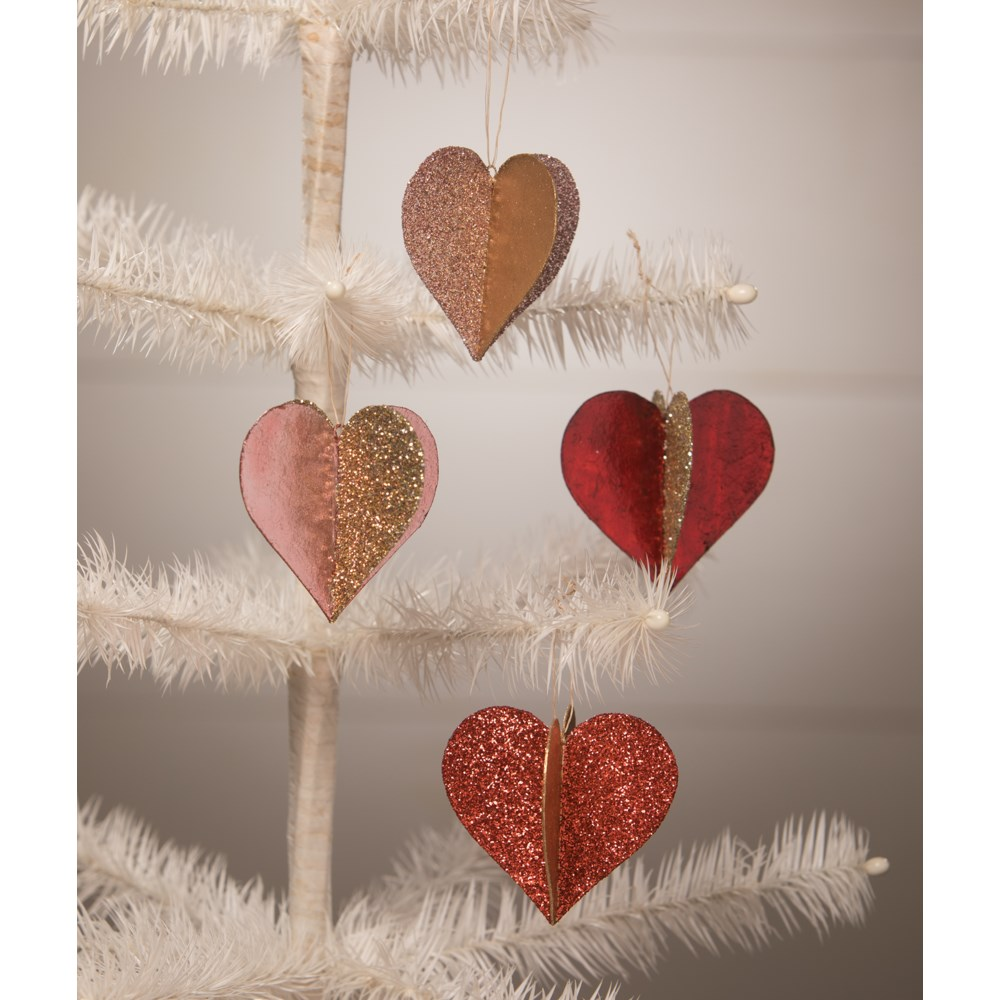 Sweet Heart Glitter and Foil Ornament S4