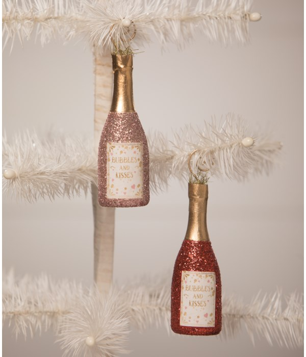 Bubbles and Kisses Champagne OrnamentPlace Card Holder 2A