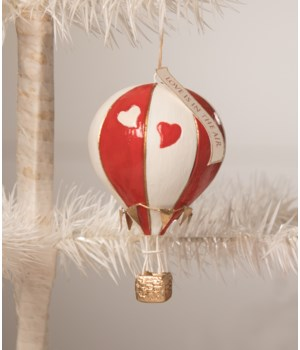 Love is in the Air Hot Air Balloon Ornament