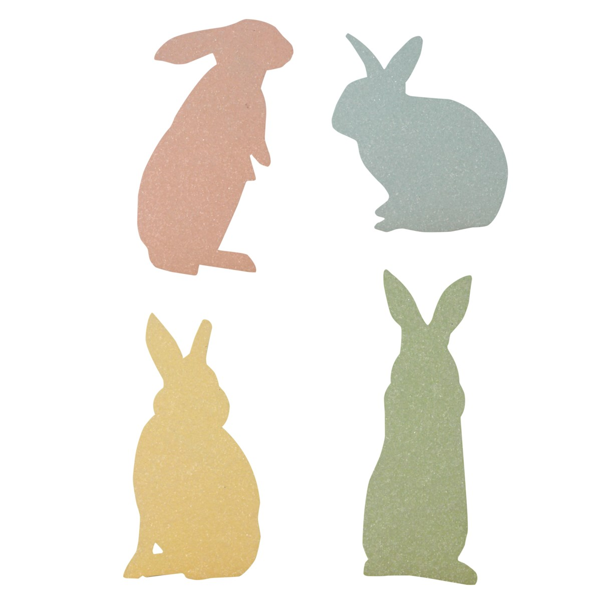 Pastel Bunny Silhouette 4A