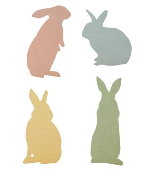 Pastel Bunny Silhouette 4/A