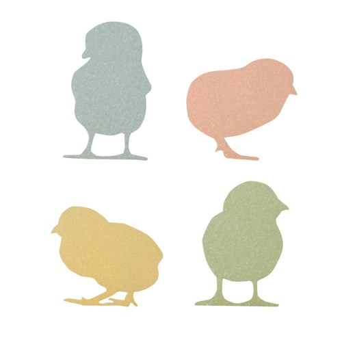 Pastel Chick Silhouette 4/A