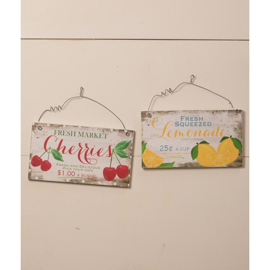 Fresh Fruit Tin Signs 2/A