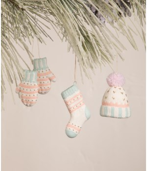 Pastel Winter Fuzzies Ornament 3/A