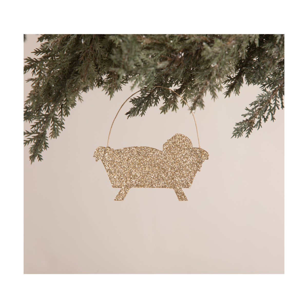 Away in a Manger Tin Silhouette Ornament