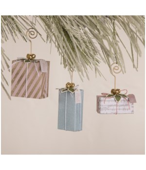 Pastel Christmas Package Ornament/Place Card Holder S3