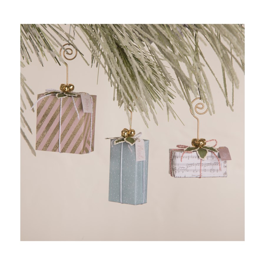 Pastel Christmas Package OrnamentPlace Card Holder S3