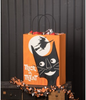Large Tin Halloween Treat Bag