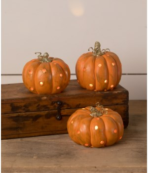 Orange Pumpkin Luminary 3/A