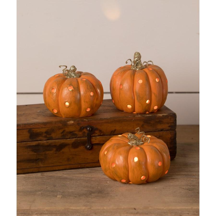 Orange Pumpkin Luminary 3A