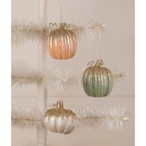Elegant Colorful Pumpkin Ornament 3A