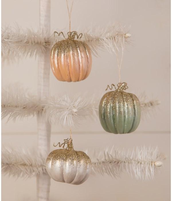 Elegant Colorful Pumpkin Ornament 3A