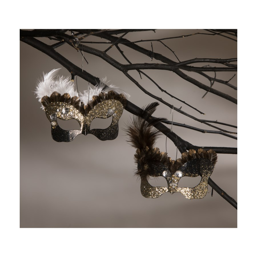 All Hallows' Eve Mask Ornament 2A