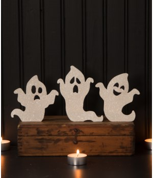 Ghoulish Ghost White Silhouette 3/A