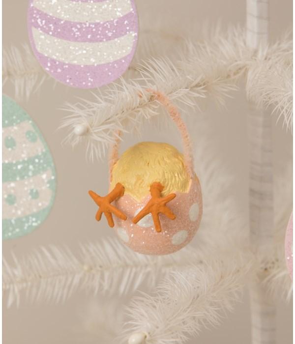 Chickie Tail Egg Ornament Orange