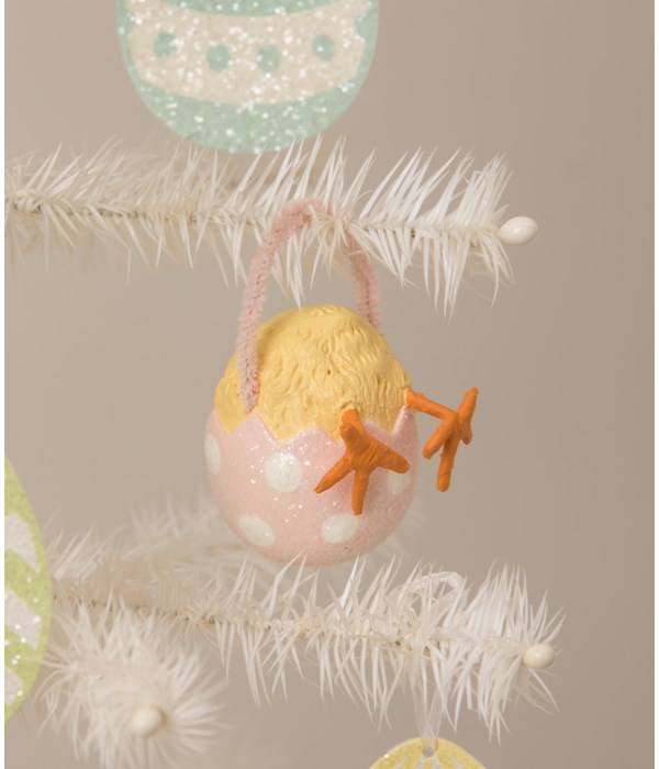 Chickie Tail Egg Ornament Pink