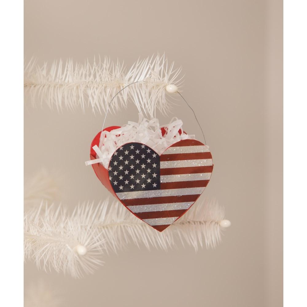 Heart of America Bucket Ornament