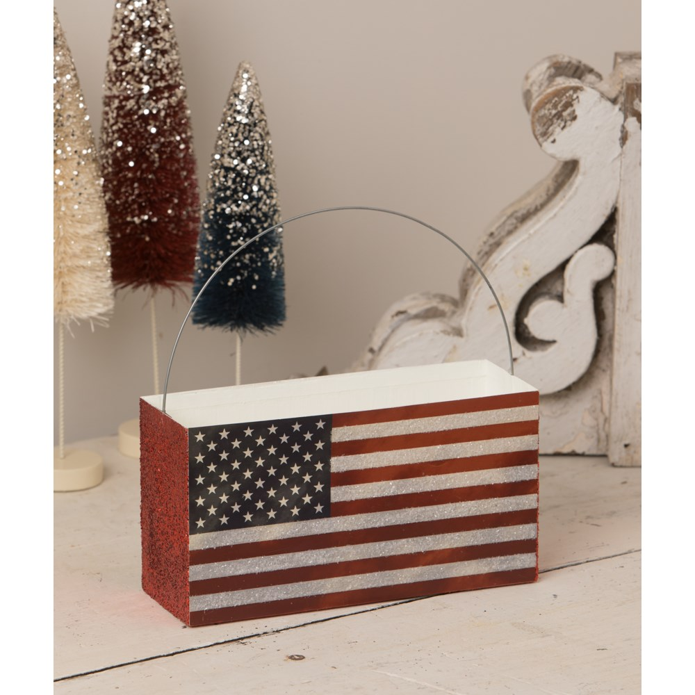 Americana Flag Bucket
