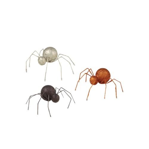 Glittered Tin Spider 3/A