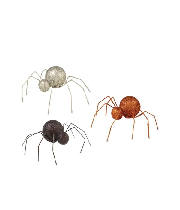 Glittered Tin Spider 3A