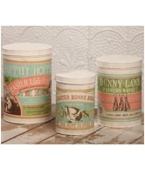 Easter Tin Canisters S/3
