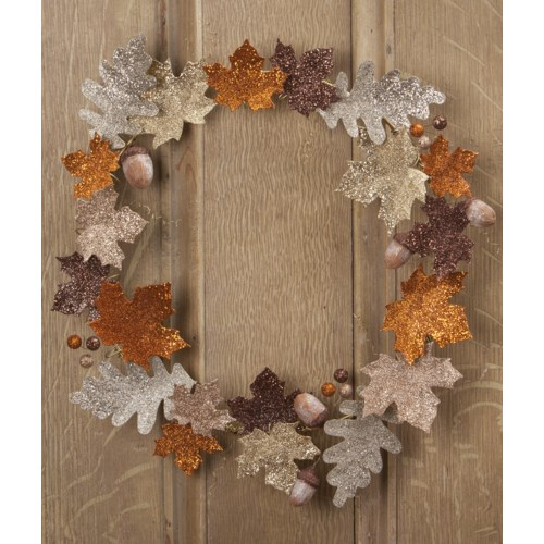 Elegant Leaf Fall Wreath