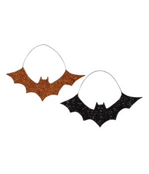 Glitter Bat Ornament 2/A