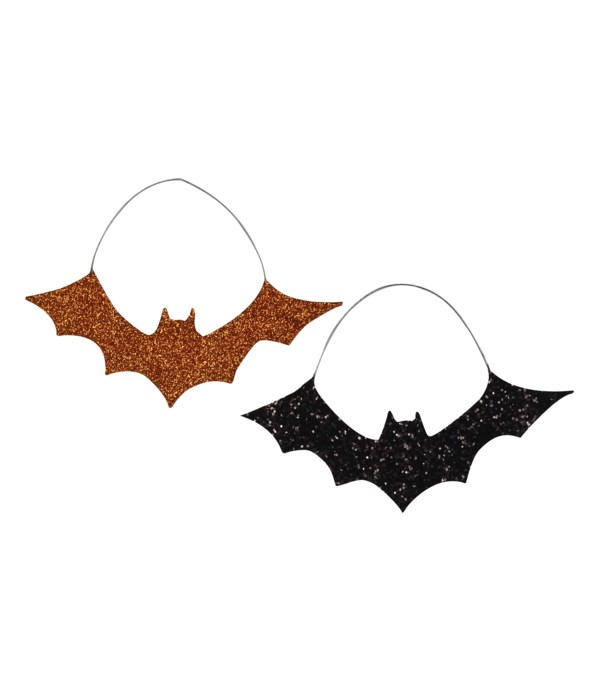 Glitter Bat Ornament 2A