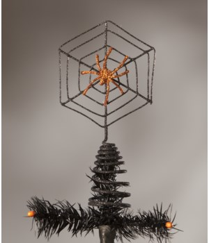 Wire Spider Web Tree Topper