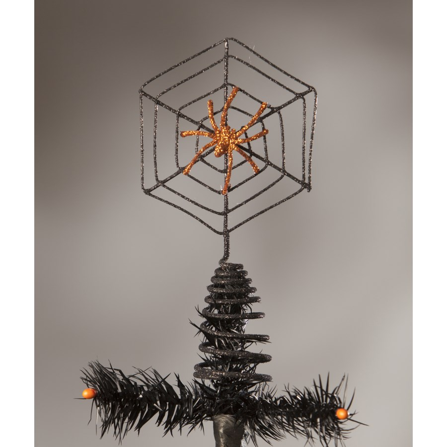 Wire Spider Web Tree Topper - ornaments & tree toppers ...