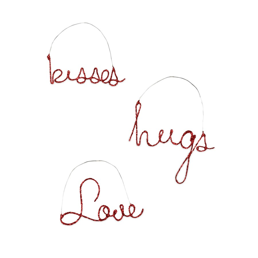 Valentine Wire Word Ornament 3A