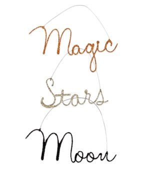 Magic Halloween Wire Word Ornament 3/A