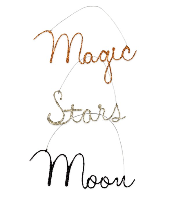 Magic Halloween Wire Word Ornament 3A