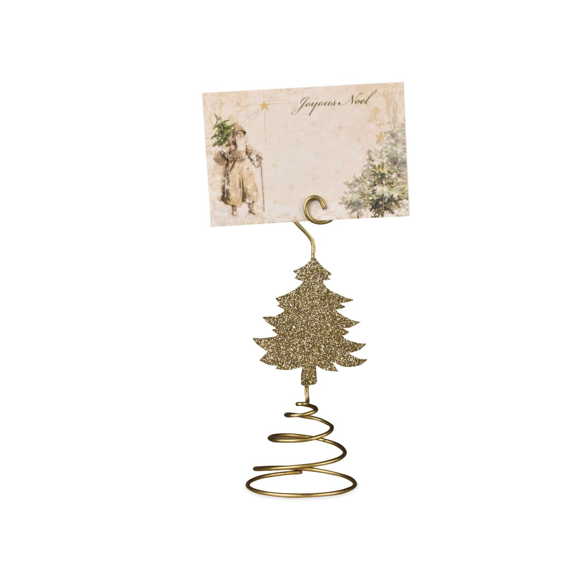 Old Gold Tree Place Card Holder