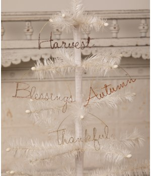Fall Wire Word Ornament 4/A
