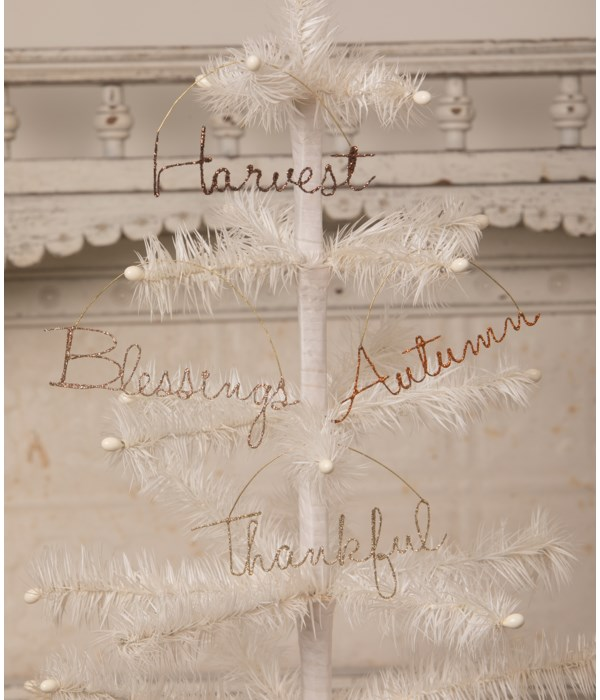 Fall Wire Word Ornament 4A
