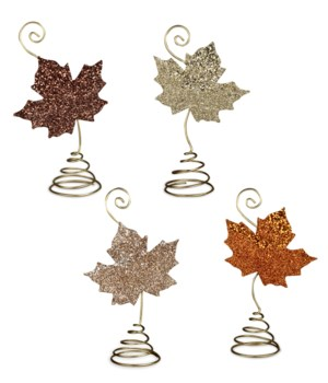 Elegant Leaf Place Card Holder 4A