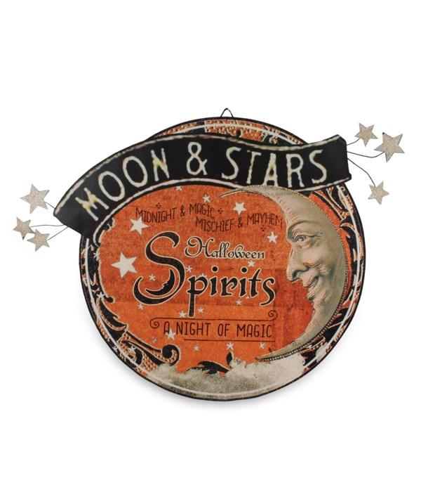 Magic Halloween Spirits Sign