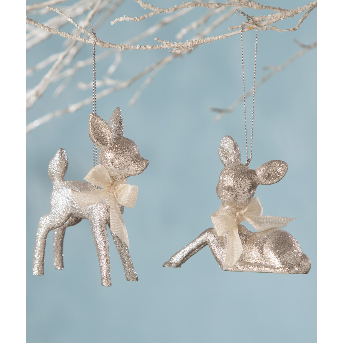 Fawn Ornament Platinum 2A